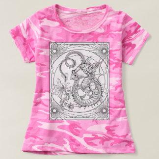 DIY coloring : Young Familiar Dragon : Color Me T-Shirt