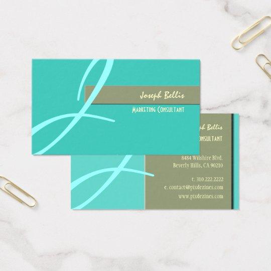 DIY Colour, Monogram Duo Tone Business Card