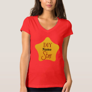 DIY Crafts Gardener Competition Yellow Star T-Shirt