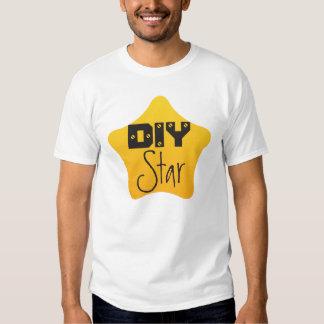 DIY Crafts Gardener Competition Yellow Star Tee Shirts