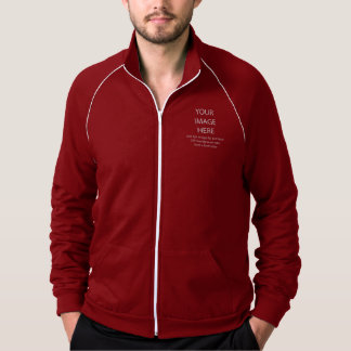 DIY Cranberry California Fleece Track Jacket