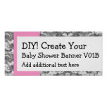 DIY Create Your Own Baby Shower Banner CAMO