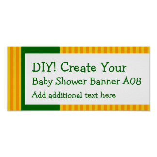 DIY Create Your Own Baby Shower Banner STRIPES A08 Print