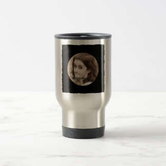 DIY Create Your Own Black Personalized Photo Frame Stainless Steel Travel Mug