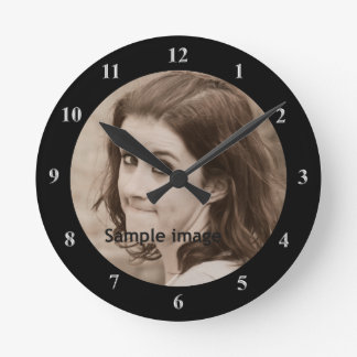DIY Create Your Own Black | Personalized Photo Round Clock