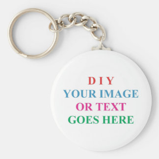 DIY CREATE YOUR OWN DESIGN BASIC ROUND BUTTON KEY RING