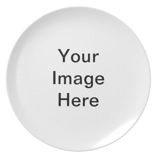 DIY Create Your Own Melamine Plate Small A05.