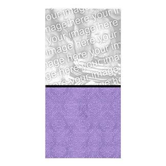 DIY Create Your Own Purple Wedding Damask Photo Card Template