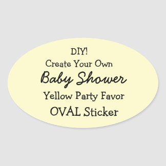 DIY Create Your Own YELLOW Baby Shower Favor V06C Sticker