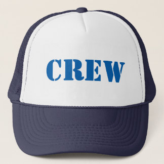 Diy CREW U can change TEXT STYLE SIZE N COLOR Trucker Hat