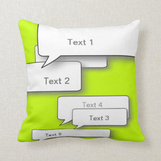 DIY CUSTOM DIALOGUE CUSHION, NEON Speech bubble Cushion