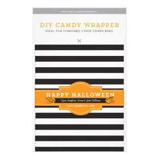 DIY Custom Halloween 1.55oz Candy Bar Template Flyer