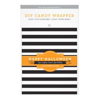 DIY Custom Halloween 1.55oz Candy Bar Template Flyer