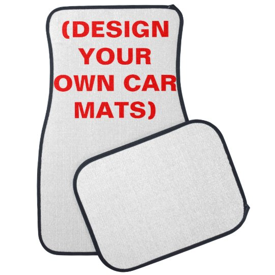DIY Customisable Car Floor Mats (Set of 4)