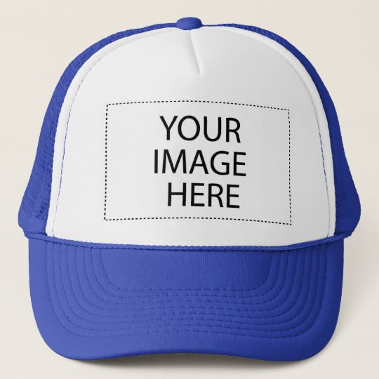 DIY Design Your  Gift Item Blue or Other Colours Trucker Hat