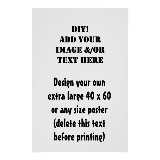 DIY Design Your Own 40 x 60  or Any Size Artwork Poster