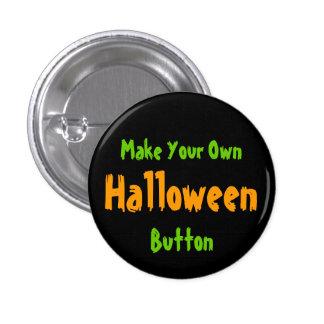 DIY Design your own Black Halloween Button v3