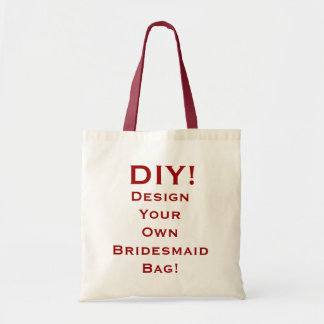 DIY - Design Your Own Bridesmaid Bag Red and White