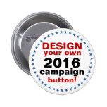 DIY Design Your Own Campaign blue stars 6 Cm Round Badge