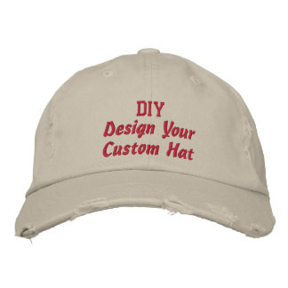 DIY Design Your Own Custom Accesssory V4 Embroidered Hat
