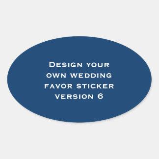 DIY Design Your Own Custom Color Wedding Verson 6 Sticker