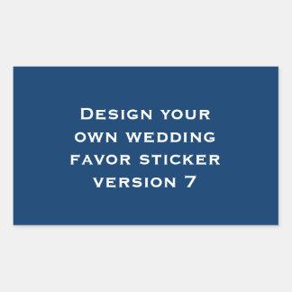 DIY Design Your Own Custom Color Wedding Verson 7 Sticker