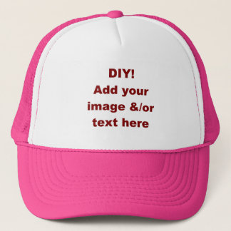 DIY Design Your Own Custom Gift H001BA Trucker Hat