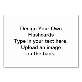 DIY - Design Your Own Flashcards Card