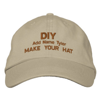 DIY Design Your Own Khaki  Custom Gift H020 Embroidered Hats