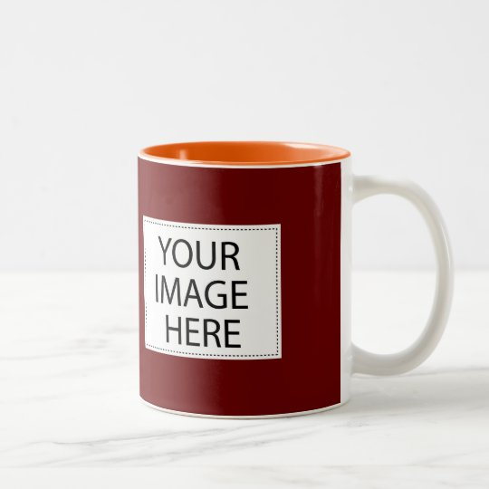 DIY Design Your Own Maroon and Orange Mug Gift