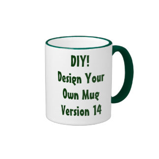 DIY Design Your Own Mug Wine Red and White Ver 14