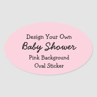 DIY Design Your Own Pink Baby Shower Favor Sticker