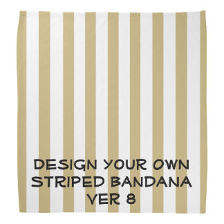 DIY Design Your Own STRIPED Bandana V08