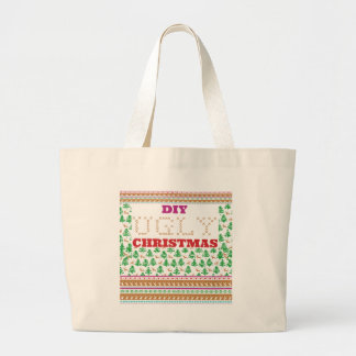DIY - Do It Yourself ugly Christmas - like sweater Tote Bags