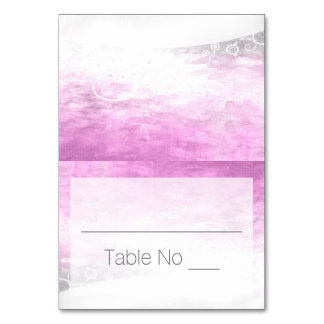 DIY Fold Tented Place Cards Watercolor Purple Table Cards