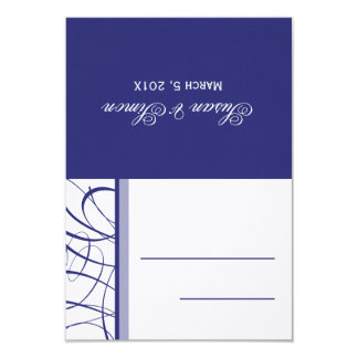 DIY Folded Table Place Card - Navy 9 Cm X 13 Cm Invitation Card