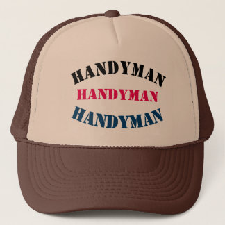 Diy Handyman U can change TEXT STYLE SIZE COLOR Trucker Hat
