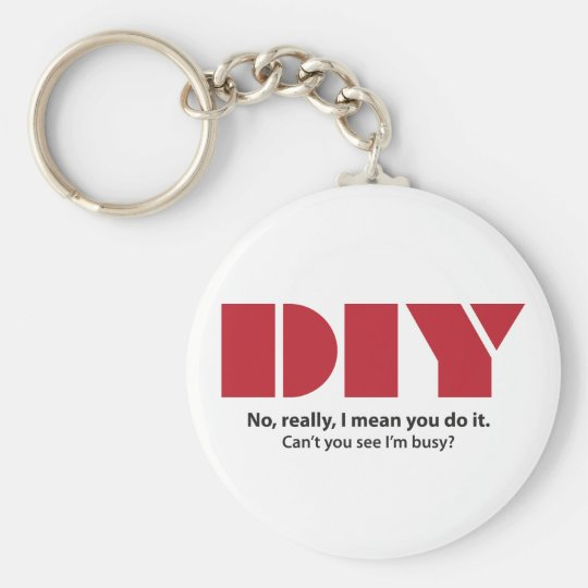 DIY I am busy Basic Round Button Key Ring