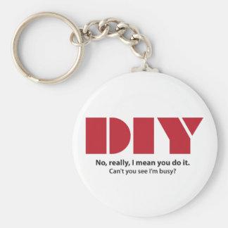 DIY I am busy Key Ring