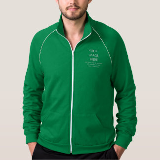 DIY Kelly Green California Fleece Track Jacket