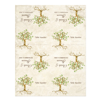 DIY Kit - Table Cards Swirl Tree Roots Antiqued
