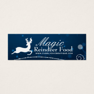 DIY - Magic Reindeer Food Hang Tags Mini Business Card