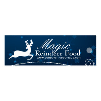 DIY - Magic Reindeer Food Hang Tags Pack Of Skinny Business Cards