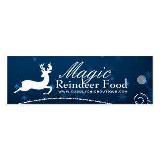 DIY - Magic Reindeer Food Hang Tags Pack Of Skinny Business Cards