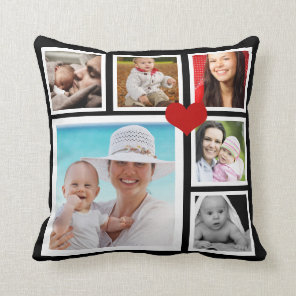 DIY Make a Personalised Photo Template Heart Cushion