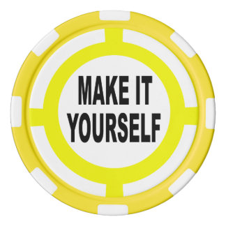 DIY Make It Yourself white and yellow Poker Chips