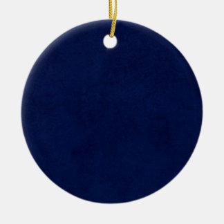 DIY Midnight Blue Background Custom Home Gift Idea Christmas Ornament
