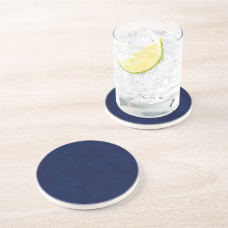 DIY Midnight Blue Background Custom Home Gift Idea Coaster