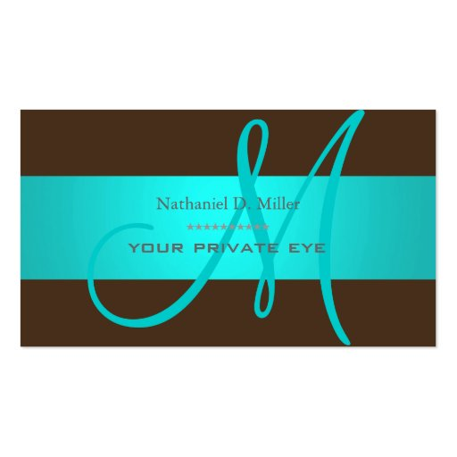 DIY monogram + background color Business Card Template