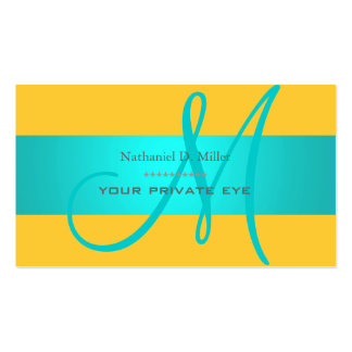 DIY monogram + background color Double-Sided Standard Business Cards (Pack Of 100)